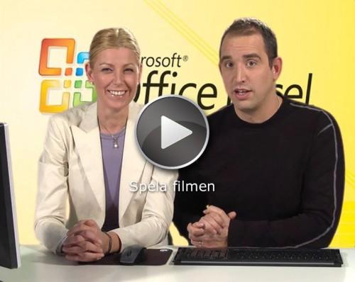 Se videoavsnitt och detaljerat innehåll Excel